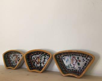 Vintage mexican clay bowls