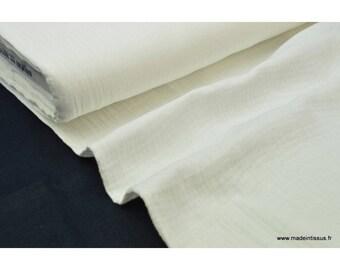 Double cotton gauze ivory x50cm