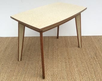Unusual 1970,s Formica top , side / coffee table .
