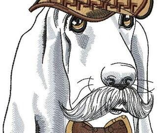 Basset hound - Machine Embroidery Design  Embroidery  Dog Basset hound  5*7, 6*8, 8*10