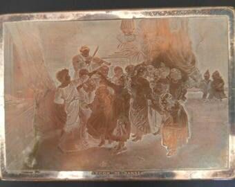 Antique Rare Lecon De Danse Snuff Box/Trinket Box 1850-1899