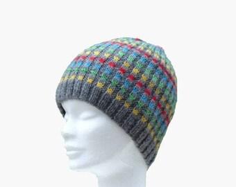 man/woman, multicolor wool fait-main@creazabelle Hat
