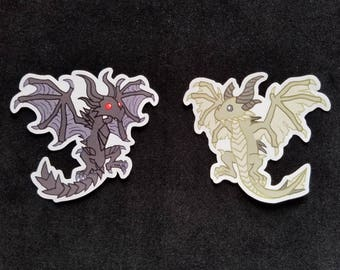 Skyrim Dragon Stickers - Alduin - Paarthurnax - Skyrim Stickers