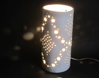 Lampe céramique en porcelaine faite main