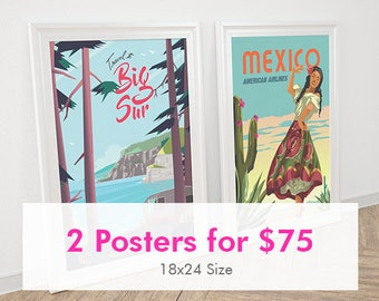 Posternaut Bundle: Any 2 Posters | 18x24 | Unframed