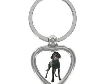 Labrador Image Heart Shaped Keyring in Gift Box
