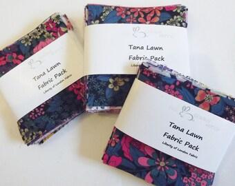 "50 Liberty Tana Lawn Fabric Patchwork 2.5"" Squares"