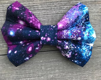 To Infinity & Beyond Glitter Galaxy Bow Tie