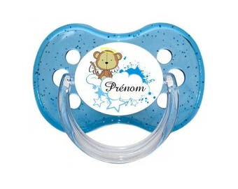 Monkey little pacifier to personalized with name