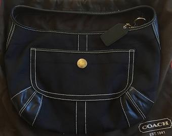 Vintage Black Coach Purse, 90s Black Coach Bag