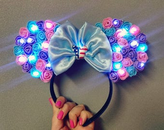 Light Up Floral Ears