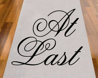 At Last Wedding Aisle Runner - NOT PERSONALIZED (MIC-AR9299-A1273)