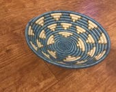 Blue and gray basket