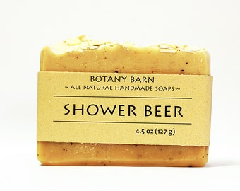 Shower Beer - Beer Soap - Cedarwood and Rosemary, Luxury Mens Soap, Awesome Manly Gift, Manly Soap, Exfoliating Soap, Gift for Boyfriend