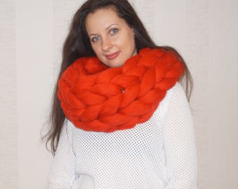 MAX SALE! Super Chunky Infinity Scarf. Oversized Scarf. Oversized Knit Cowl. Wool Scarf. Black scarf. Chunky knit scarf. Super Chunky Snood
