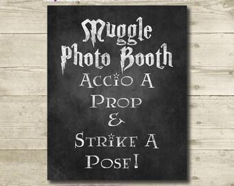 Harry Potter Wedding // Harry Potter Photo Booth Sign // Printable // 8x10 // Harry Potter Bridal Shower // Harry Potter Theme // Chalkboard