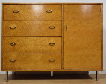 Bird's Eye Maple Lane Armoire Chifforobe Dresser