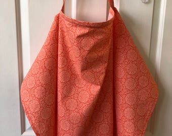 Nursing cover with matching burp cloth