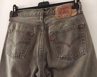 Levis 501 Jeans Ripped High Waisted Size 31/34