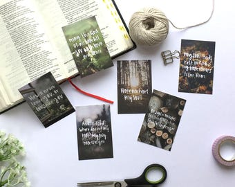 Hope Mini Scripture Cards (Pack of Six) - Christian Gifts - Hand Lettered - Christian Bible Verse Cards - Eco Friendly