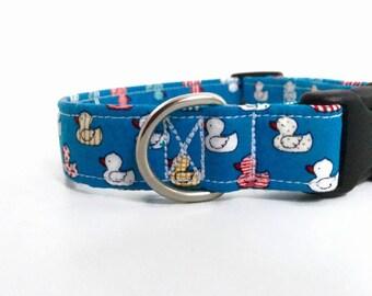 Little Duckies Dog Collar   Boy Dog Collar   Girl Dog Collar   Blue Dog Collar   Pink Dog Collar   Custom Collar   Puppy Collar