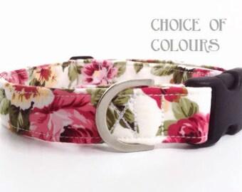Floral Dog Collar | Rose Dog Collar | Girl Dog Collar | Dog Collar | Floral Dog Collar | Small Dog Collar | Big Dog Collar|Puppy Collar