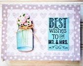 WEDDING Greeting Card - Unique Handmade To The Mr. and Mrs. Card / Blank Bridal Shower Greeting Card / One-of-a-Kind Wedding Shower Card