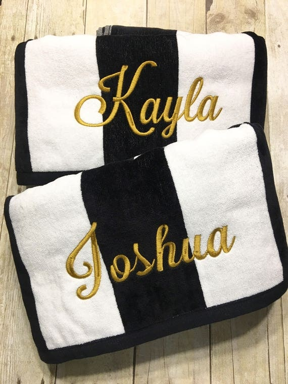 Personalized Beach Towels Wedding Gift