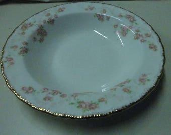 Vintage Dessert Bowl Pope Gosser USA China Florence Pattern #3025