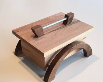 Handcrafted keepsake box made from spalted maple and walnut