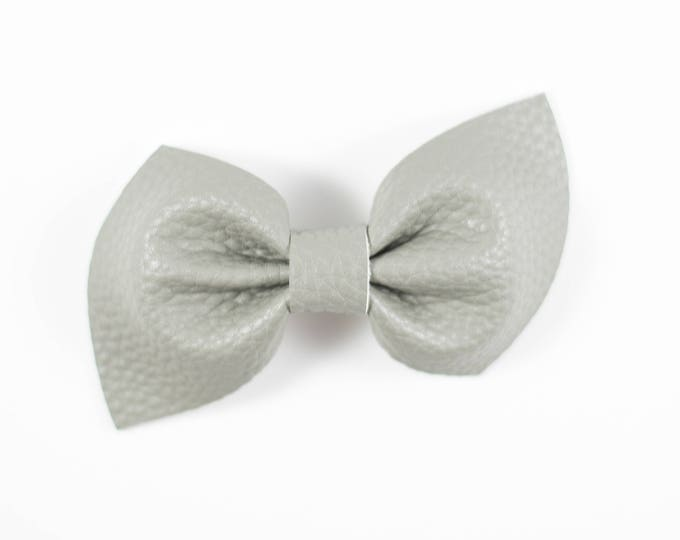 Brooke bow || Owl gray