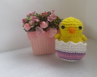 Easter Chick, Easter decorations, Easter Gift, Crochet Chicken, Stuffed Chick, Easter Crochet Chick, Tiny Bird, Baby chicken, Farm animal