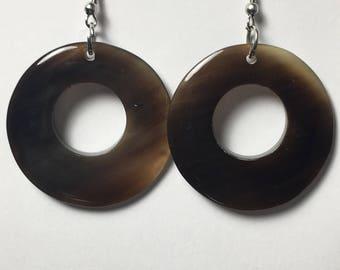 Horn Ring Earrings