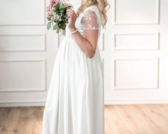 "Maternity wedding dress ""Feathers"""