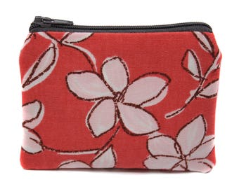 original and unique fabric wallet with a retro floral flower pattern