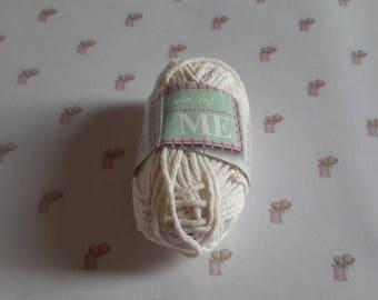 Mini skein cotton ecru crochet amigurumi canvas Ref: 01
