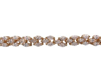 Diamond Choker, Marquis Shaped Diamond Choker, CZ Choker, Fancy Choker Necklace, Beautiful Wedding or Prom Choker