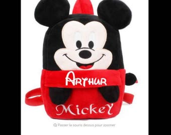 Personalized red Mickey bag