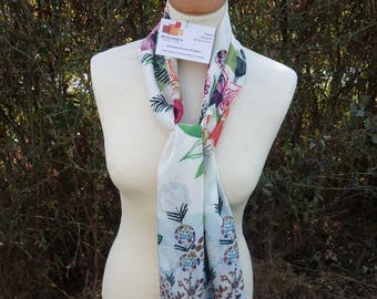 FLOWING SCARF PRINT NATURE