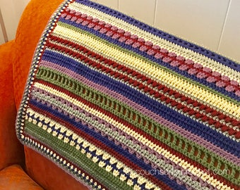 Mixed Stitch Blanket Crochet Pattern