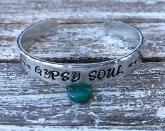 Gypsy soul cuff bracelet~ cuff bracelet~ Gypsy cuff~