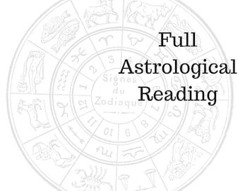 IN DEPTH ASTROLOGICAL reading including your birth chart, angel energy, & a oracle/tarot card reading
