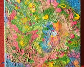 """Abstract Painting """"In my Garden"""""""