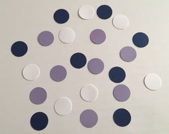 225 Navy White and Purple Confetti Bridal Shower Confetti Wedding Confetti Baby Confetti Shower Confetti 2018 Wedding Confetti