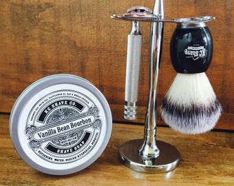 Stanley Safety Razor Kit. Shaving Kit. Great Valentine's Gift for boyfriend.  Boyfriend Gift. Grooming Set.