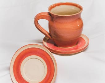 Pink Cup with Saucer