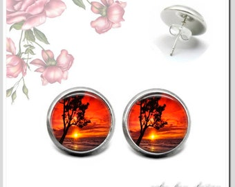 Stud Earrings 5 Colours for Choice Sun 1 OSH-012-409