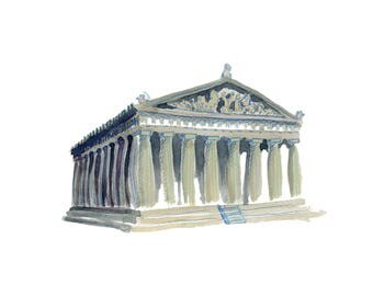 The Parthenon in Nashville, Tennessee Print