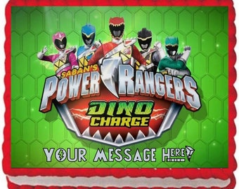 Power Ranger Dino Charge Edible Image Cake Topper