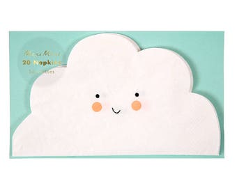Cloud Shaped Napkins / Cloud Napkin / Twinkle Twinkle / You Are My Sunshine / Sun Moon Stars / Outdoor Party
